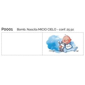 bigliettino bomboniera nascita bimbo
