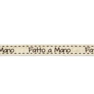 Fatto A Mano Lino mm15 X Mt 20 - Panna-0
