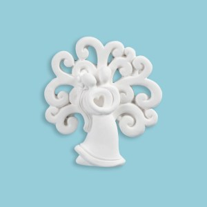 Gessetto decorazione bomboniera coppia con albero della vita (12pz)-0