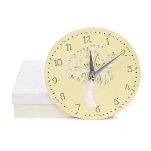 Bomboniera orologio albero piccolo color crema con scatola-0