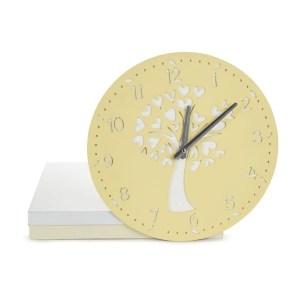 Bomboniera orologio albero grande color crema con scatola-0