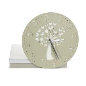 Bomboniera orologio albero grande color salvia con scatola-0