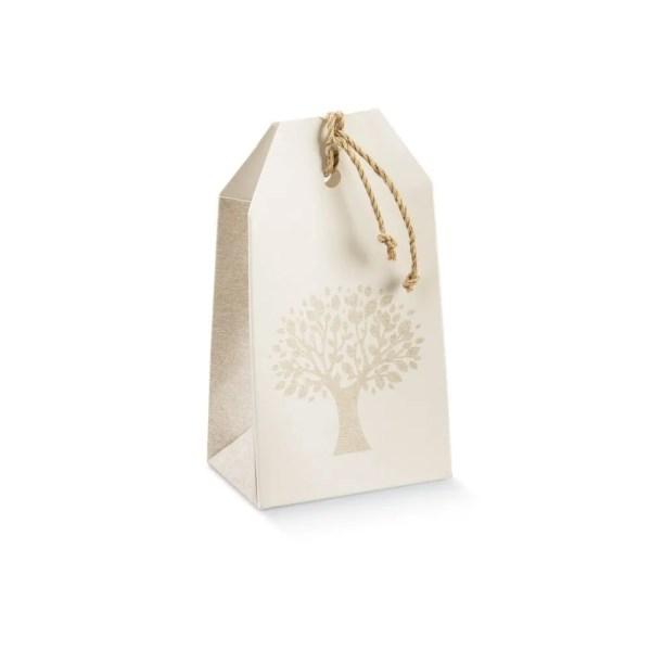 Scatola Portaconfetti Tag Albero della Vita Avorio 5,5 X 3,5 X 10 cm (10 PZ)-0