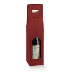 Astuccio Portabottiglia 1 Bottiglia Seta Bordeaux (10 PZ)-0