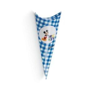 Cono Busta Portaconfetti Mickey Mouse Blu 19 cm (10 PZ)-0