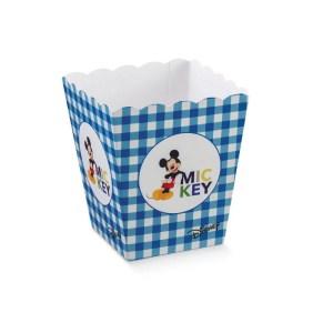 Scatola Vaso Mickey Mouse Blu 7 X 7 X 11 cm (10 PZ)-0