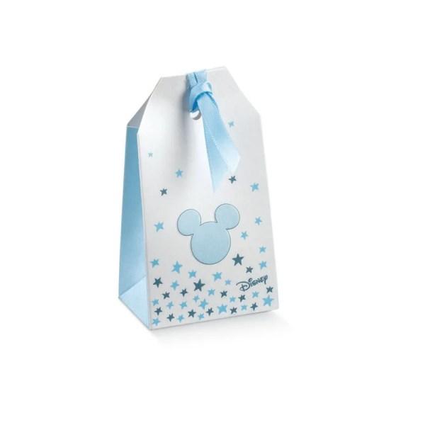 Scatola Portaconfetti Tag Mickey Mouse Stars Celeste 5,5 X 3,5 X 10 cm (10 PZ)-0