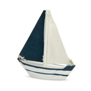 Bomboniera barca a vela bianca e blu piccola-0