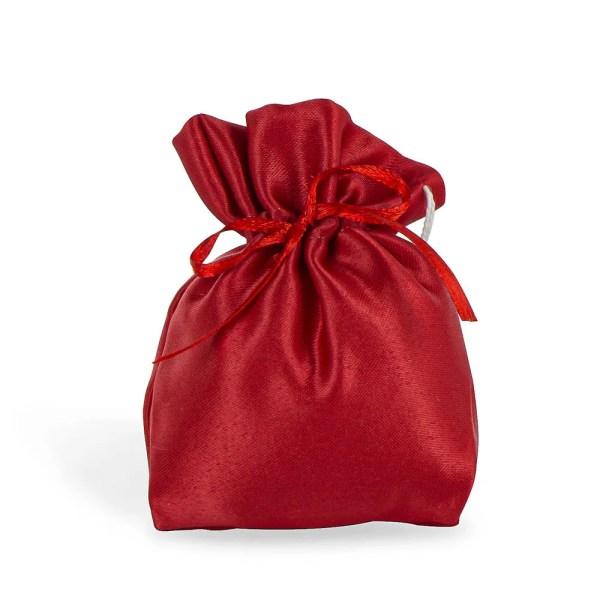Sacchetto in raso mini rosso
