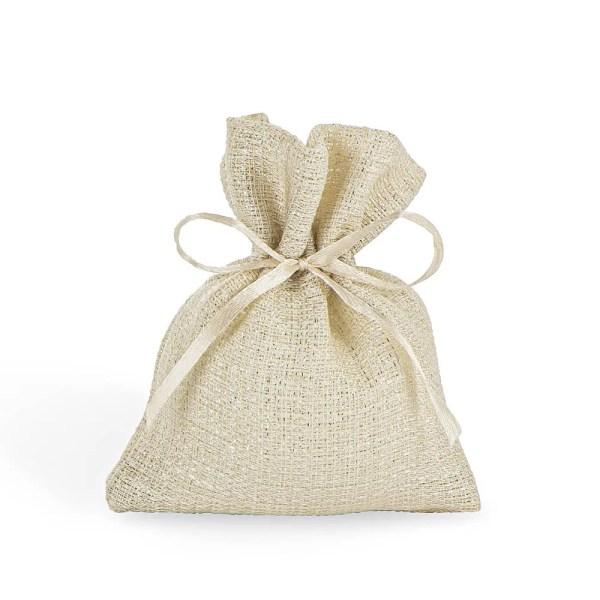 Sacchetto mini beige in cotone