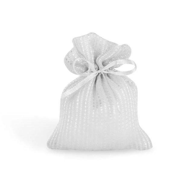 Sacchetto bomboniere di colore bianco