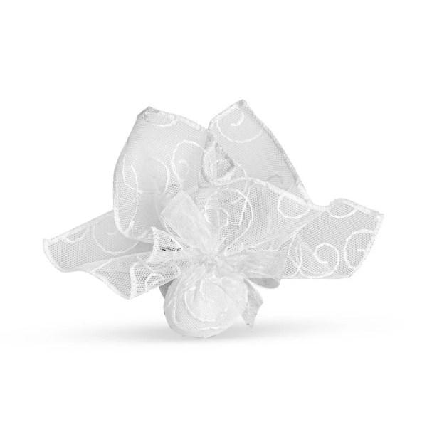 Fazzoletto portaconfetti ricamato bianco-0