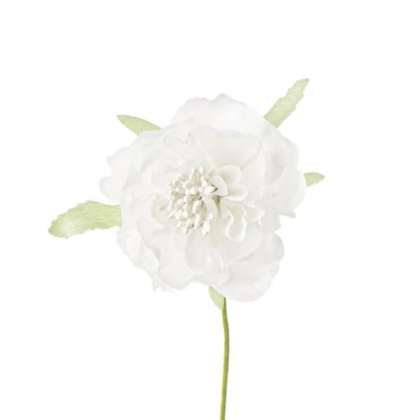 Applicazione bomboniera fiore con pistilli bianco