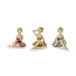 Ballerina seduta grande in resina assortita -0
