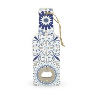 Bomboniera matrimonio utile apribottiglia decorato Blu-0