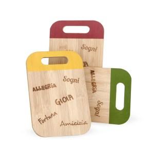 Bomboniere utili matrimonio taglieri in legno colori assortiti-0