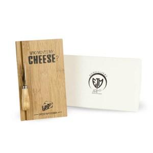 Set formaggio tagliere e posata con scatola-0