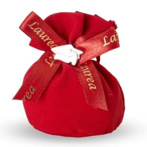Portaconfetti bomboniera rosso Laurea-0