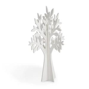 Albero in legno bianco H 40 cm-0
