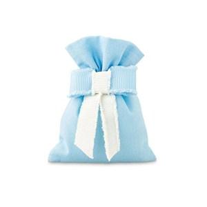 Bomboniera sacchetto azzurro con fiocco-0