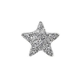 Applicazione bomboniera stelle glitter argento (120 pezzi)-0