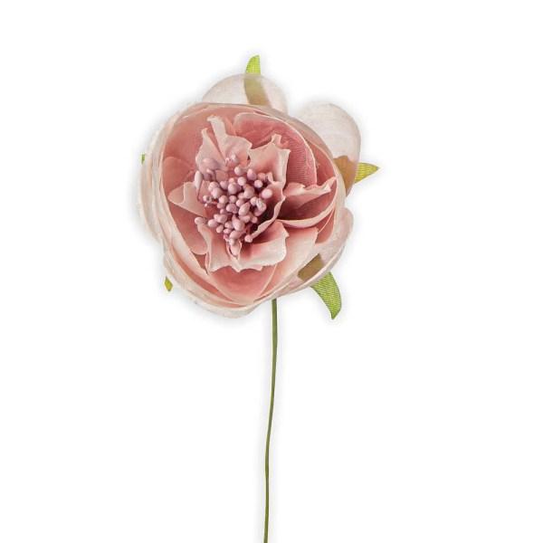 Ranuncolo fiore bomboniera rosa antico