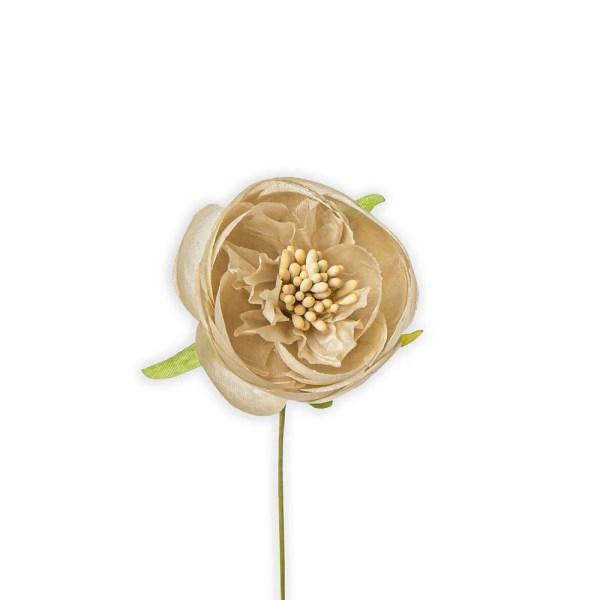 Fiore decorativo ranuncolo beige