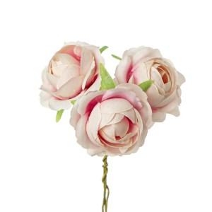 Applicazione bomboniera rosetta rosa