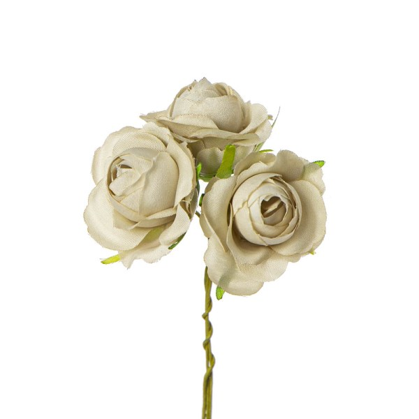 Fiore bomboniera rosetta beige