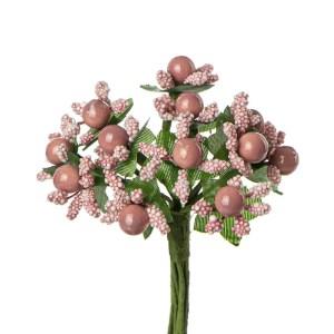Applicazione fiore pistillo rosa antico