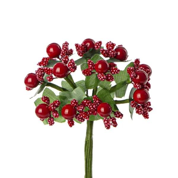 Bomboniera fiore pistillo rosso