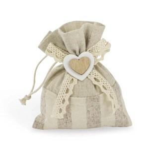 Bomboniera portaconfetti con cuore beige