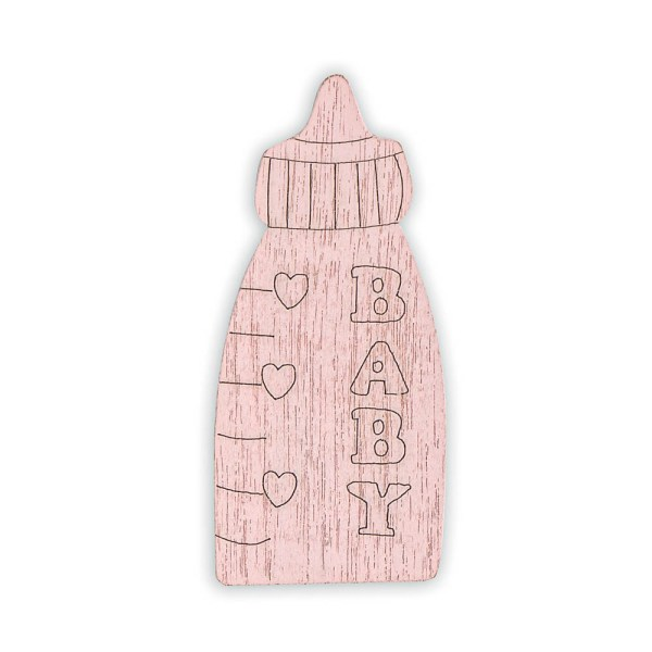 Decoro bomboniera biberon rosa