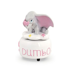 Bomboniera Carillon Dumbo Rosa con scatola-0