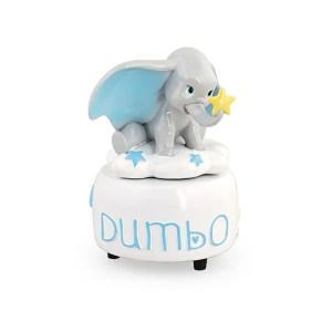 Bomboniera Carillon Dumbo Azzurro con scatola-0