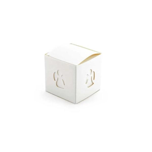 Scatola cubo portaconfetti in cartoncino con Angelo-0