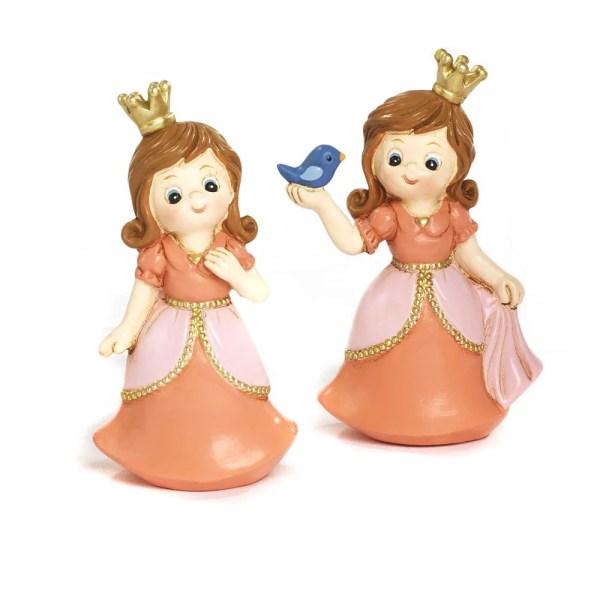 Bomboniera principessa in resina 2 assortite