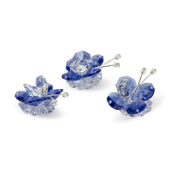 Decoro bomboniera farfalla cristallo e blu -0