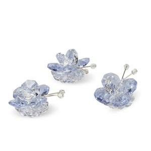 Bomboniera decorativa farfalla cristallo e lilla-0