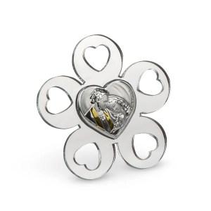 Bomboniera icona fiore con sacra famiglia-0