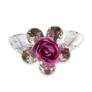 Fiore bomboniera 5 petali e rosellina fuxia-0