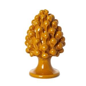 Bomboniera Pigna di Caltagirone h. 15 cm arancio -0