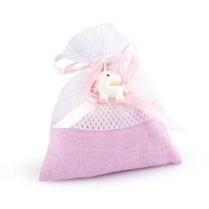 sacchetto rete con unicorno