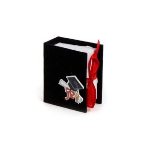 book portaconfetti laurea nero-0