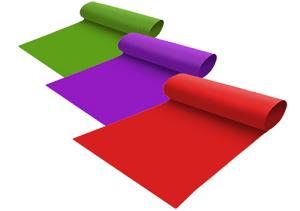 opening met diverse kleuren lopers
