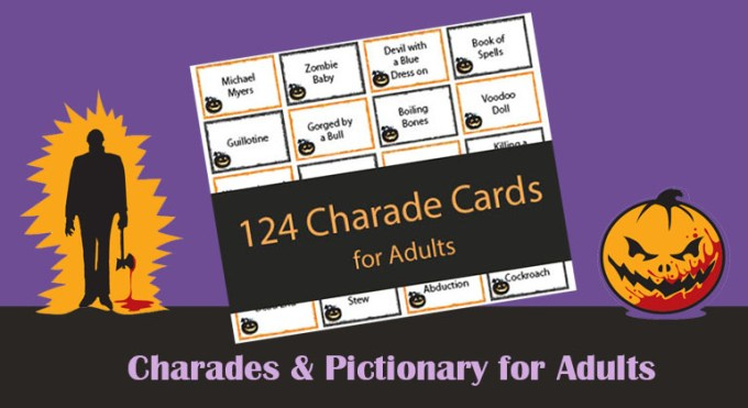 124 halloween charades for s printable game