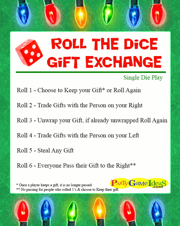 roll the dice gift