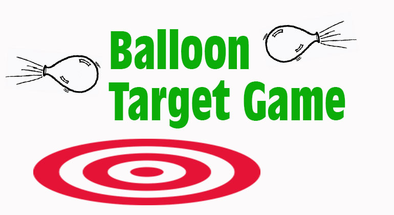 Balloon Target Game Birthday Party Games