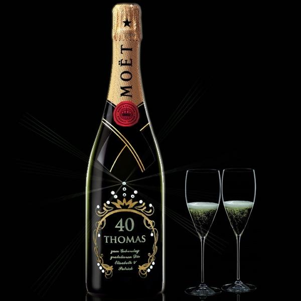 Champagnerflaschen mit Gravur und echten SwarovskiKristallen zu vielen Anlssen  Partygeschenkde