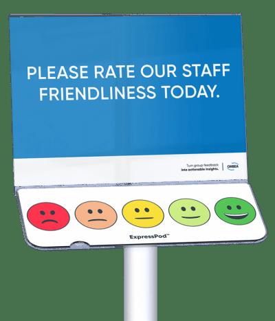 Staff friendliness rating